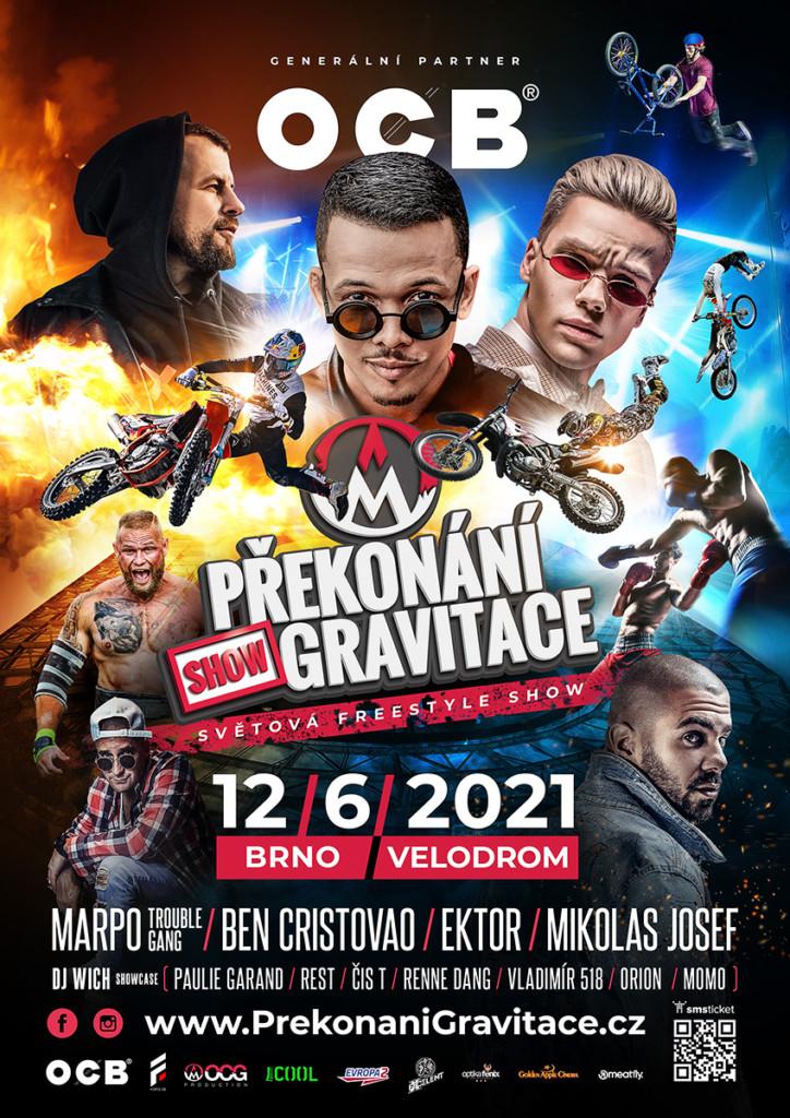 Překonání gravitace 2021 - Velodrom Brno, sobota 12. 6. 2021